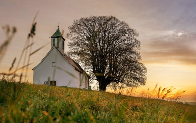 Church on the hill Image by Lars_Nissen from Pixabay